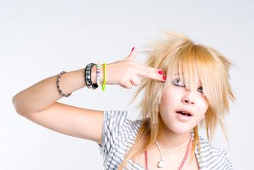Beautiful blond grungy girl