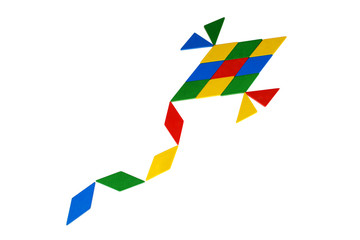 Colorful Tangram Kite icon
