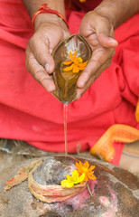 Hindu  Devotee praying