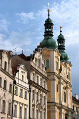 Church in Hradec Kralove, big city in Czech Republic