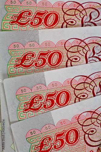 Photo: £50 pound notes