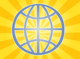 International global symbol, illustrating worldwide unity poster