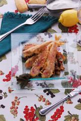 Triglie con salsa di capperi - Secondi pesce - Veneto