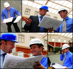 architects reviewing the blueprints