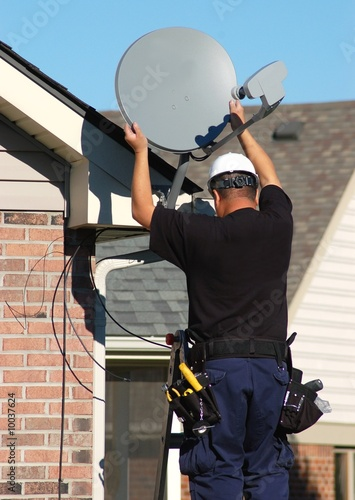 Satellite dish technician