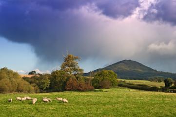 Gathering storm over the Wrekin, Shropshire, UK