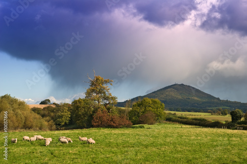 Gathering storm over the Wrekin, Shropshire, UK