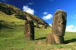 Leinwanddruck Bild - moai