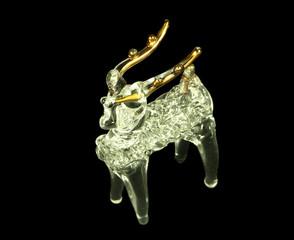 Weihnachtsdekoration Hirsch aus Glas