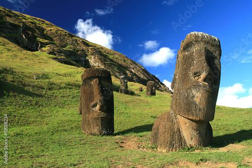 Leinwanddruck Bild moai