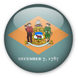 Delaware State Flag Button
