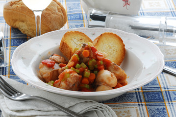 Spezzatino di Coda di rospo - Secondo pesce Ricetta Veneto