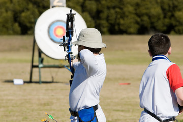 Two young archers