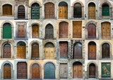 Fototapety Collection vintage obsolete elegant tuscany door