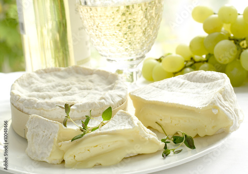 cheese, grape and wine