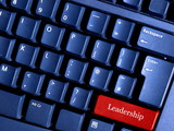 leadership button on the computer keyboard poster