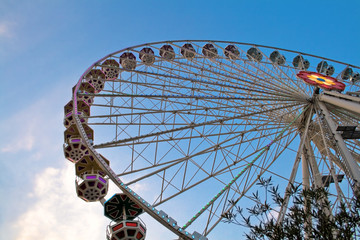 Giant ferry wheel at Prater - famous amusement park in Vienna