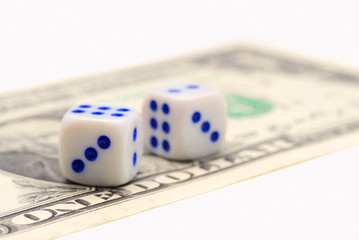 Dice and banknote