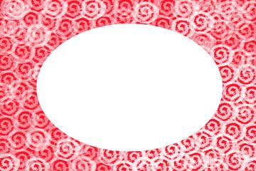 marco oval para navidad o san valentin
