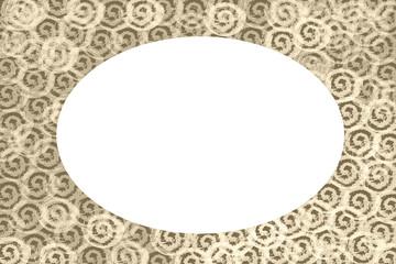 marco oval para navidades o san valentin