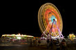 Fair rides viewed at night with long shutter speed.