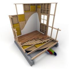 Cube techno maison bois