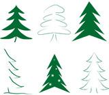 Fototapety Weihnachsbaum Bäume