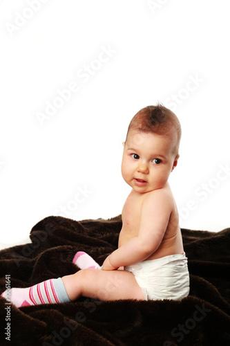 baby in pampers stockfotos und lizenzfreie bilder auf bild 10061641. Black Bedroom Furniture Sets. Home Design Ideas
