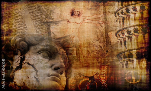 Grunge background with atmosphere of Italian culture