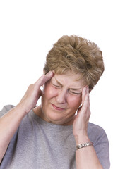 Woman suffering with a headache