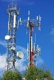 Towers of telecommunications. poster