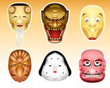 Japan Noh and Kyogen masks | Set 3 poster