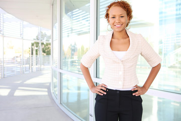 A young, confident african american business woman