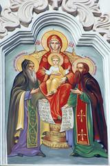 Fresco. Kiev-Pechersk Lavra monastery in Kiev. Ukraine