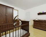 Nursery interior with wooden furniture poster