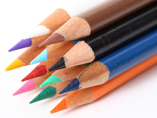 Bunch of colored pencils