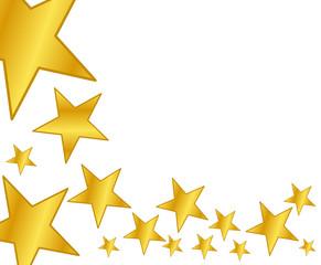 Arrière-plan d'étoiles dorées