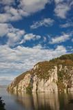 Danube Gorges reflecting in the Danube river, Romania. poster
