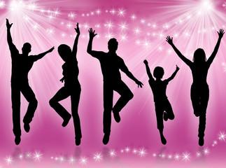 Giovani che saltano