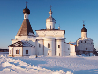 Little monastery in Ferapontovo village, Russia