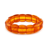 amber bracelet isolated on a white background