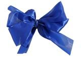 sapphire-blue silk ribbon poster