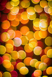 There is defocused picture with many colors poster