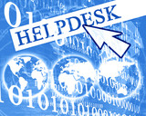 Arrow pointing at virtual helpdesk poster