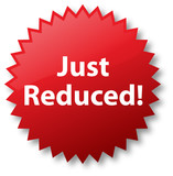 Just Reduced Sale Sticker poster