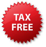 Tax Free Sale Sticker
