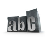 letter abc poster