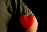 A person wearing their heart on their sleeve. poster