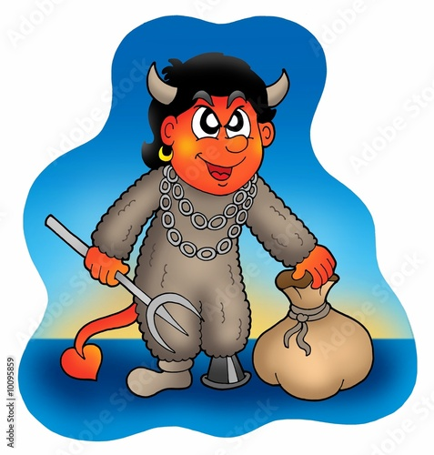 Devil with sack