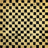 Handcrafted chessboard background, grungy surface poster